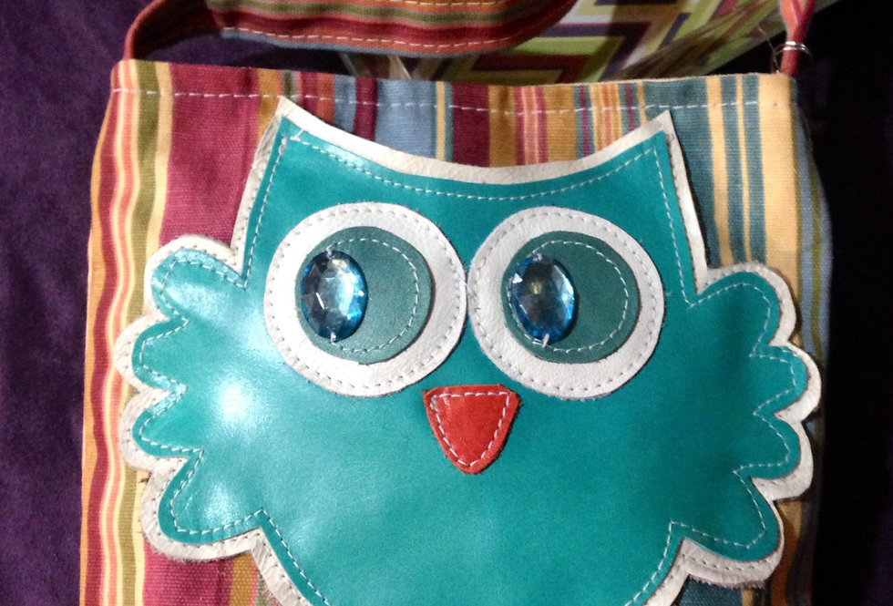 Owl Mini Teal Stripe