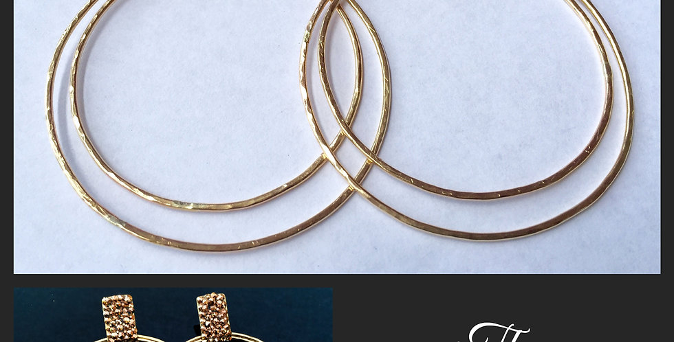 Rose Gold and Gold Large Hoops