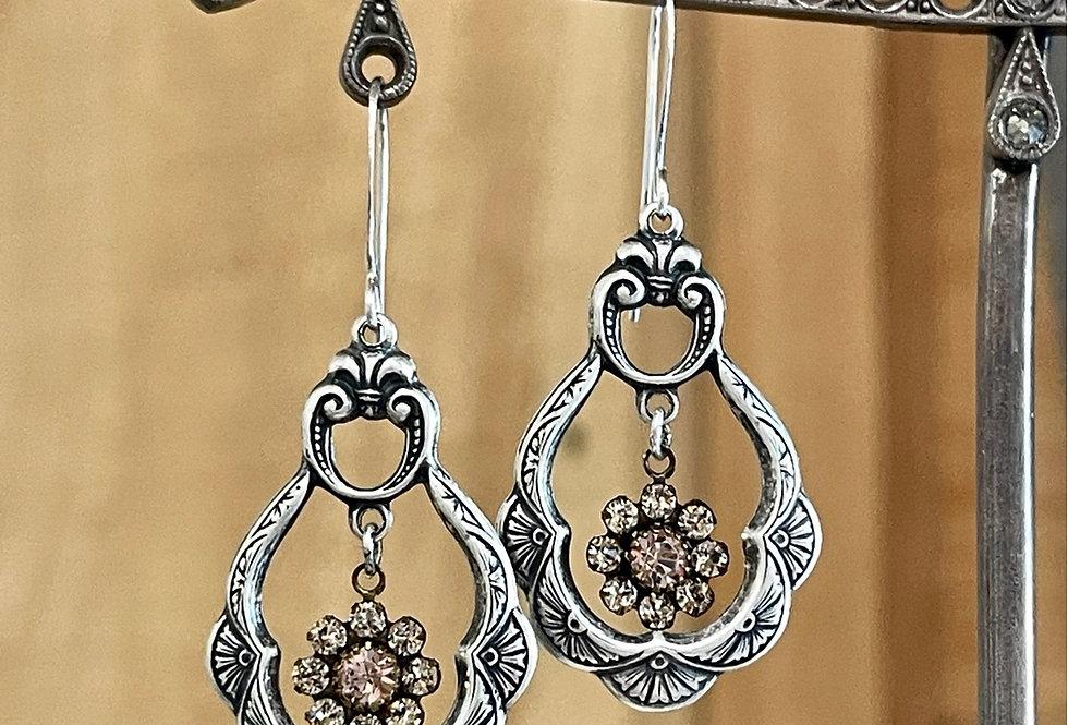 Vintage Swarovski Art Deco Earrings