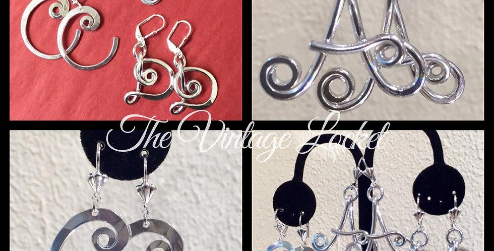 Aluminum Initial Earrings *New*