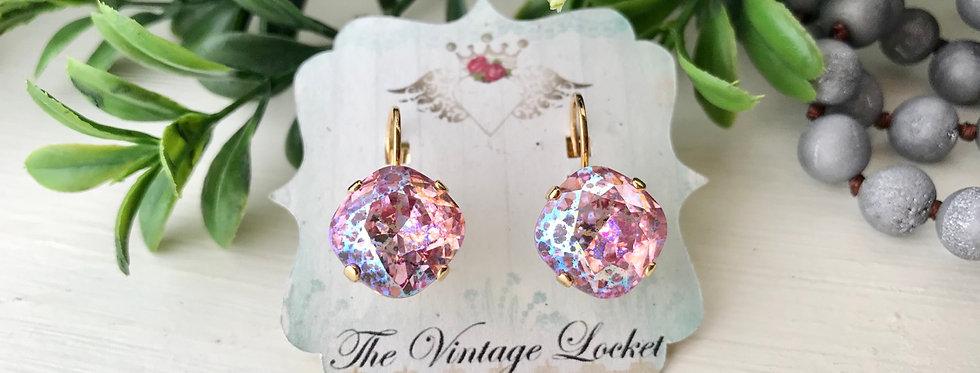 Swarovski Rose Patina Earrings