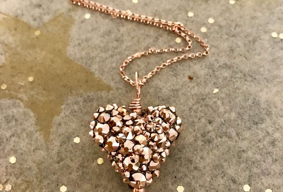 Pave Style Heart