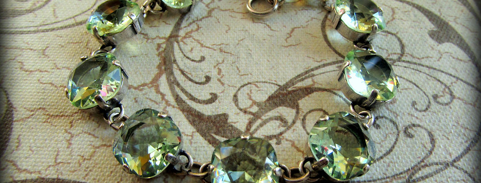 Swarovski Crystal Bracelet Peridot