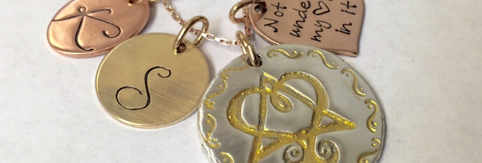 Adoption Silver & Gold Pendant