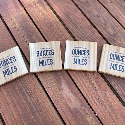 Oz vs. Miles 4-Pack, Bottle Opener Coasters
