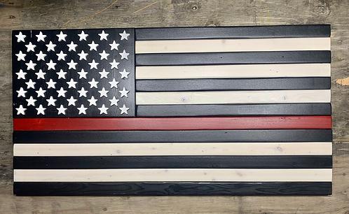 Red Stripe American Flag (Reclaimed Wood)