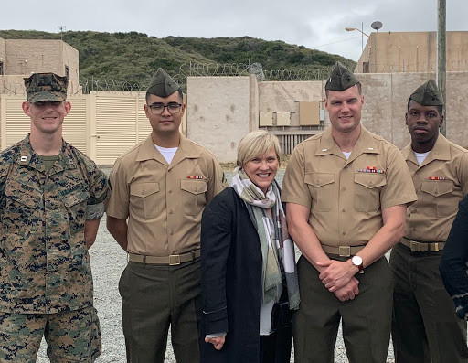 Chris with Marines at Camp Pendleton