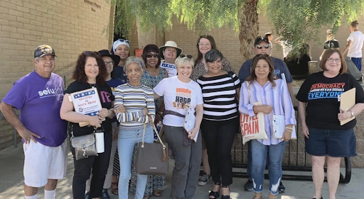 Chris Bubser with Field Team 6 registering voters in Victorville