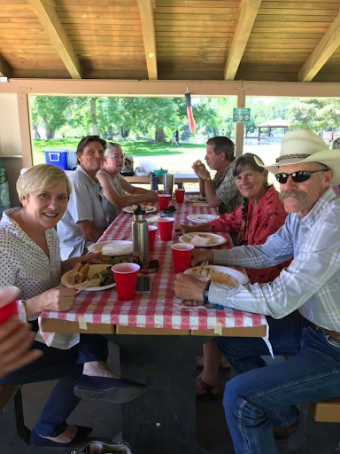 Chris at the Inyo County Democratic Central Committee BBQ