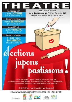 Elections, jupons, pastissons - affiche.