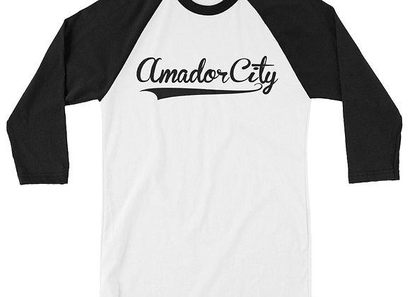 Amador City - Unisex 3/4 sleeve raglan shirt