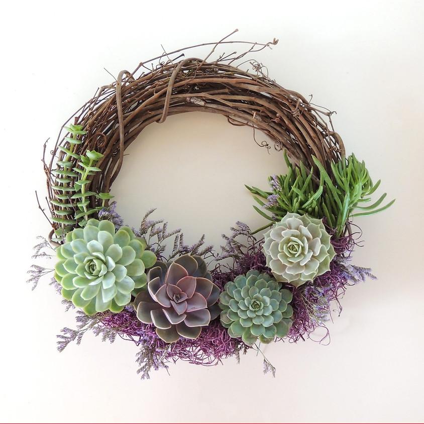 Sip & Craft: Succulent Wreaths