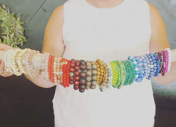 Reclaimed Bead Bracelets