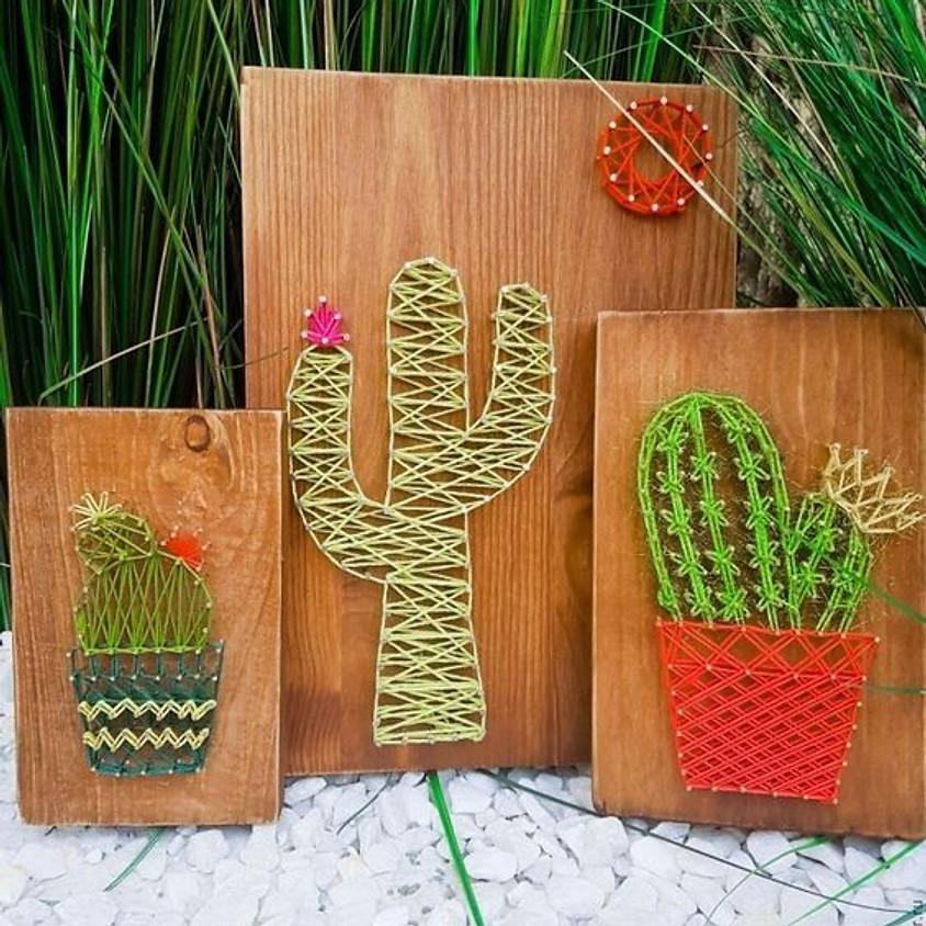 Cactus Nail & String Art