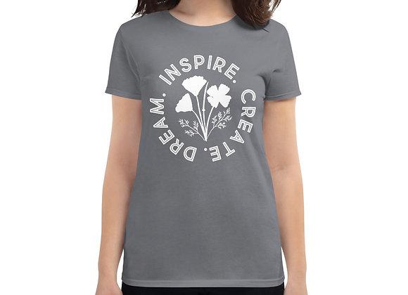 Dream. Inspire. Create. - Women's short sleeve t-shirt