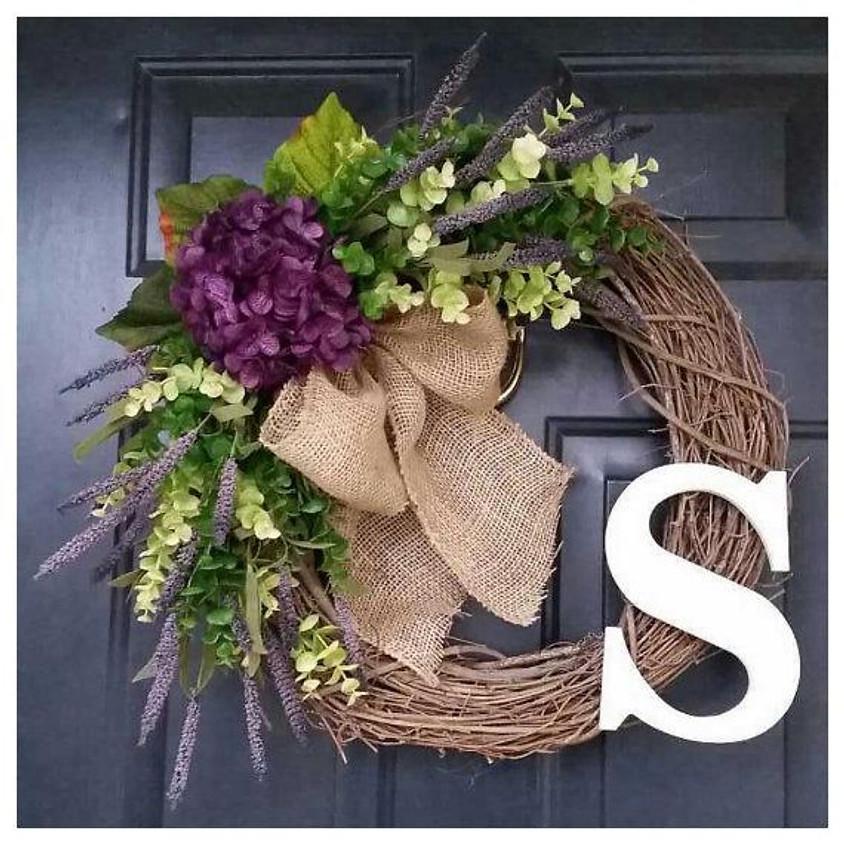 Grapevine Monogram Wreath
