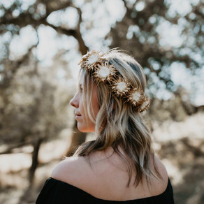 Amador City Milk Thistle Flower Crown Shoot with Amanda Ray Photography