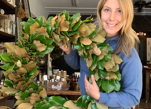 """30"""" Magnolia Wreath"""