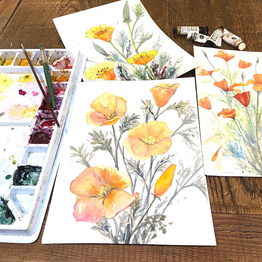 Watercolor Poppies with Jo Ann