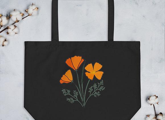 Poppy - Large organic tote bag