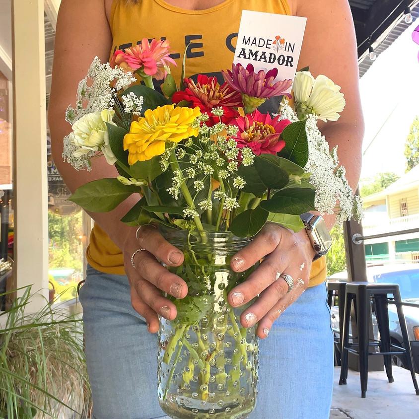 Flower Jar Arrangements with Molly