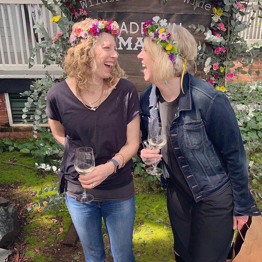 Wildflowers + Wine DIY Flower Crowns