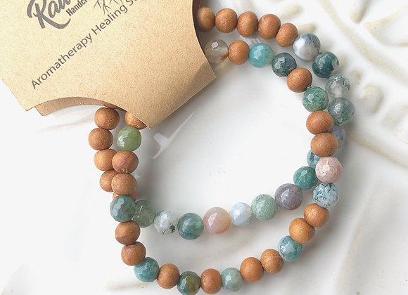 Healing Stone Diffuser Bracelet Set