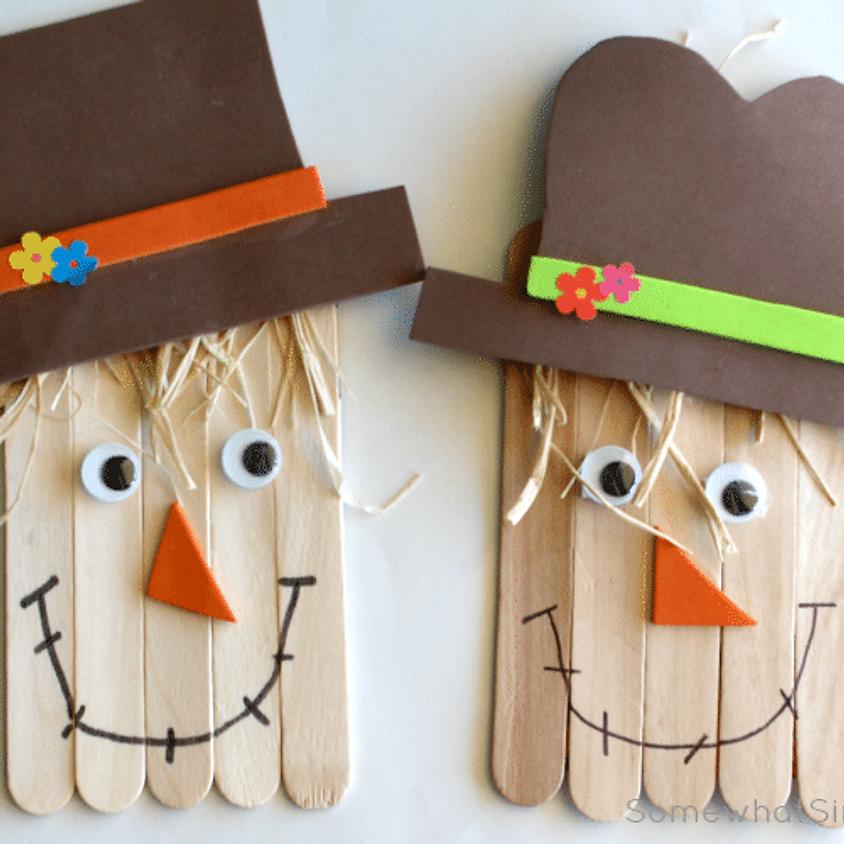 Mini Makers: November Scarecrowns