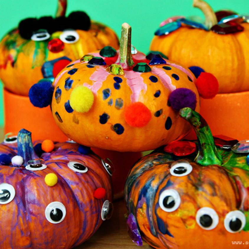 Mini Makers: October Pumpkin Painting (1)