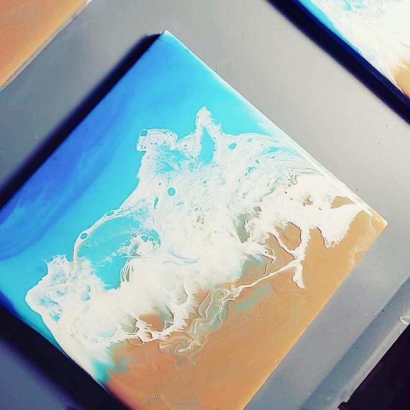 Resin Pour Beach Coasters