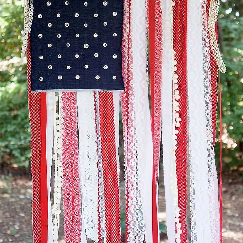 Ribbon & Lace Flag Tapestry