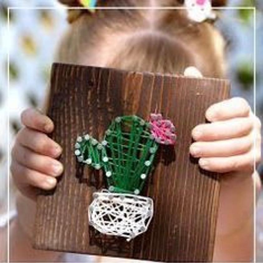 Mini Makers: Cactus Nail & String Art