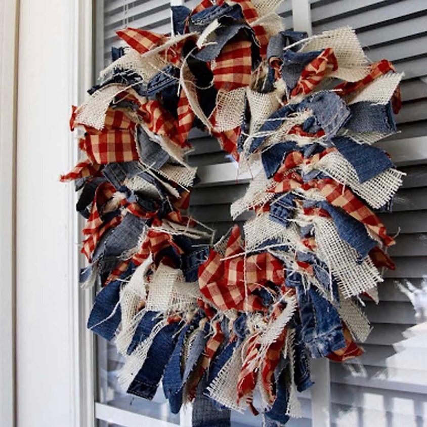 Flag Rag Wreath