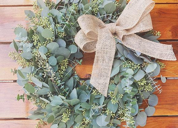 """20"""" Mixed Eucalyptus Wreath"""