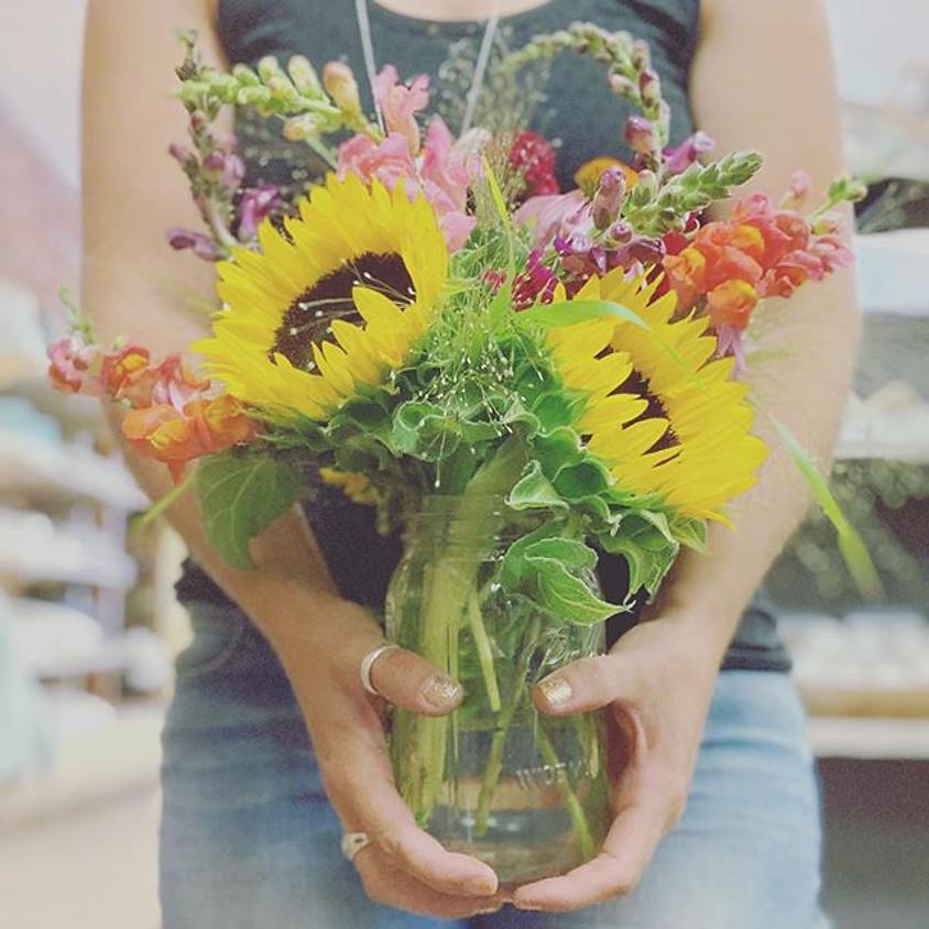 Farm Jar Floral Class