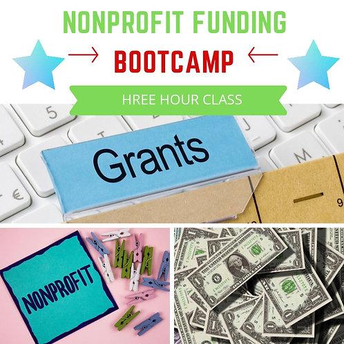 Nonprofit Funding Bootcamp