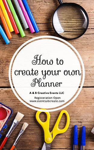 Creating Your Own Planner