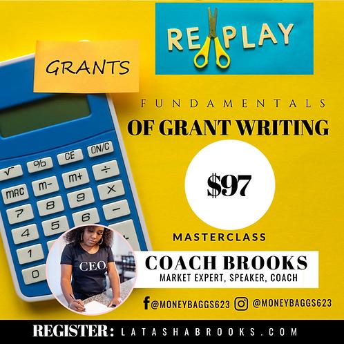 Fundamental of Grant Writing - Replay