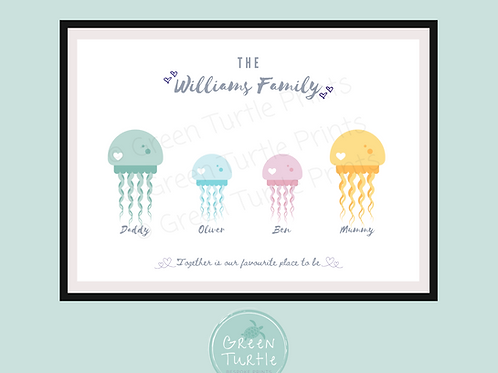 Jellyfish Family Print