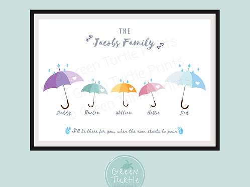 Raindrops Family Print
