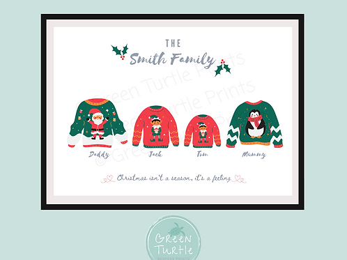 Christmas Jumper Family Print