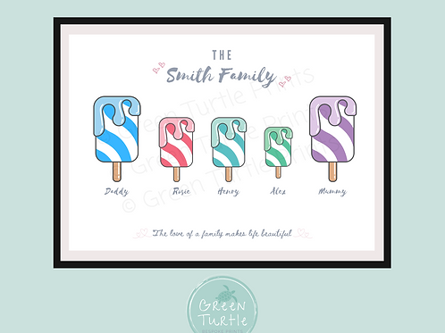 Ice Lolly Family Print