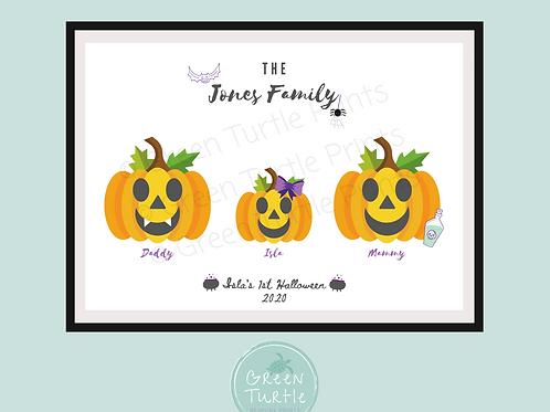 Pumpkin Family Print