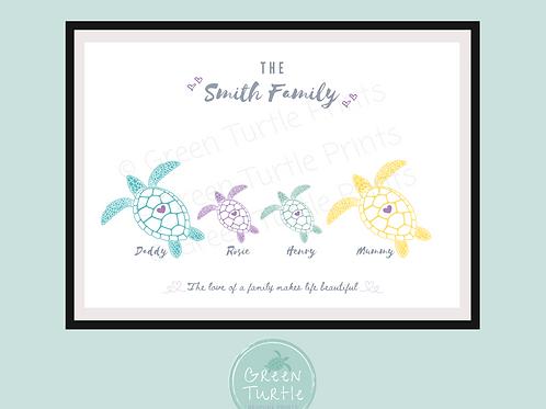Turtle Family Print