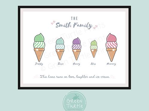 Ice-cream Family Print