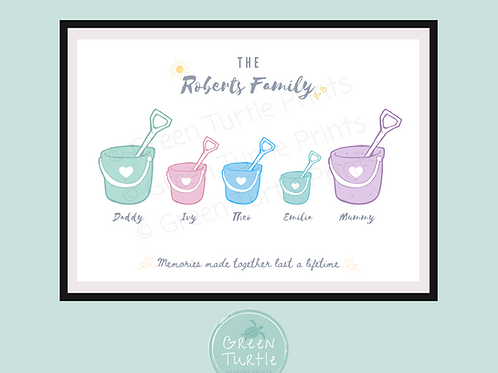 Bucket & Spade Family Print
