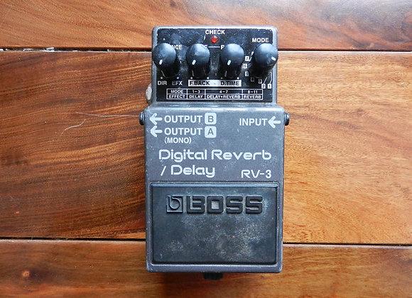 1998 Boss RV-3 Digital Reverb/Delay (pink label)