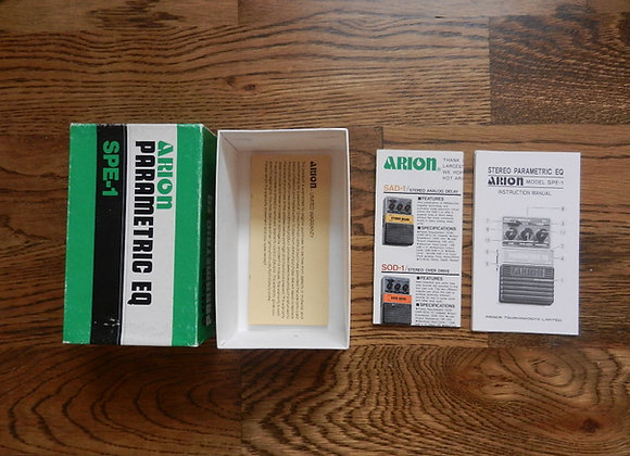 Arion SPE-1 Parametric EQ Box, Papers & Warranty