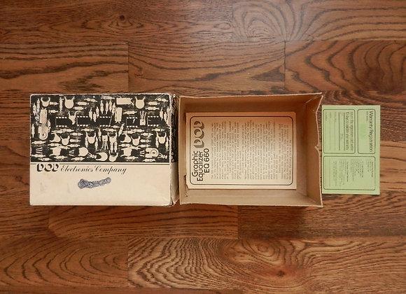 DOD 660 EQ Box, Manual & Warranty Card