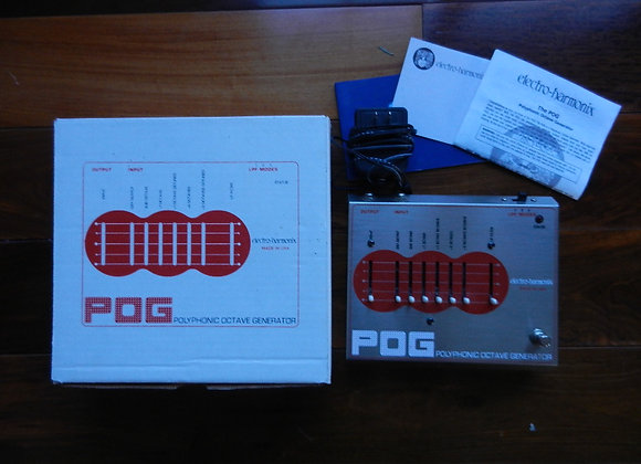 EHX POG w/ power supply, box & papers mint!